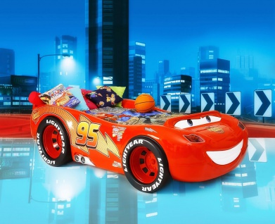 Autobett McQueen Disney Cars inkl Matratze