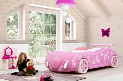 Autobett Princess in Pink Käfer Mädchenbett