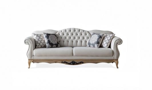 Weltew Barock Sofa verstellbare Lehne Balat Creme