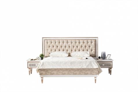 Doppelbett Ciara in Creme mit Bettkasten 160x200