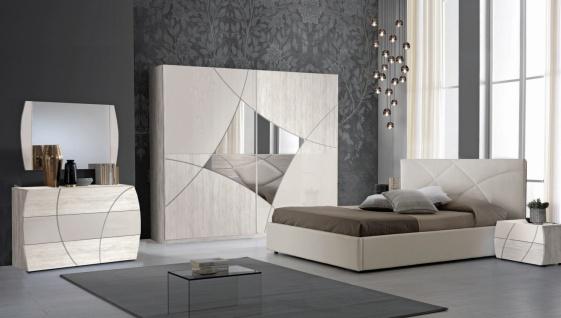 Schlafzimmer Set Atom 180x200 in Creme/Beige