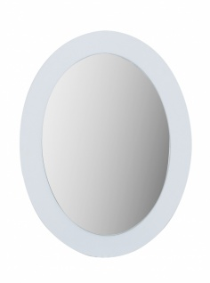 Ovaler Wandspiegel Eliza Young in Weiß