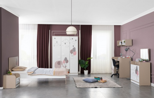 Titi Kinderzimmer Set Jungle 5-teilig Einzelbett