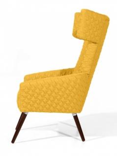 Sessel Elina Flachgewebe mit Backing, gelb - Vorschau 1