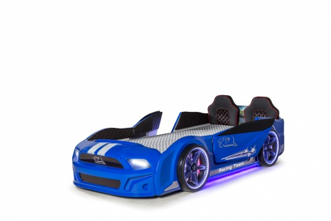 Autobett Must Rider 500 mit Türen in Blau