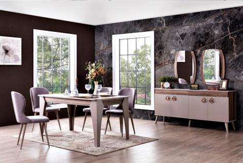 Modernes Esszimmer Set 8-teilig Retaro