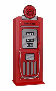 Tankstelle Schrank in Rot MDF rot glänzend lackiert