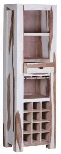 Sheesham Massivholz Weinregal Bar 178 x 55 x 40 cm
