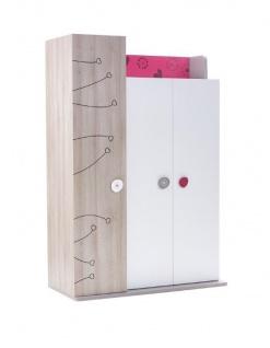 Almila Kinderkleiderschrank Sweety 3-türig in Weiß