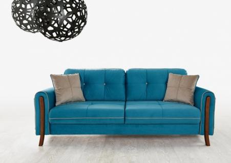 Design Couch mit Schlaffunktion Mury Blau