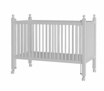 Almila Babybett Lory in Weiß 60x120