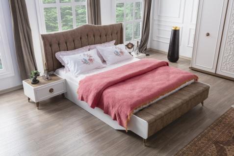 Schlafzimmer Bett Boston mit Sitzbank in 180x200