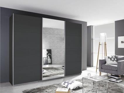 Schrank Grau Kulmbach mit Spiegel 271x229x62