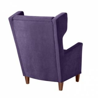 Sessel Amy weicher Veloursstoff, violett