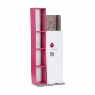 Almila Bücherregal Sweety 2-türig in Weiß Pink