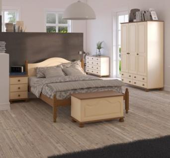 Schlafzimmer Set in Beige Kiefer Camille 4-teilig - Vorschau 1