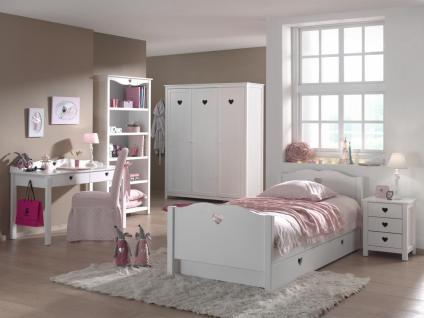 Kinderzimmer Set Albin 6- teilig in Weiß MDF