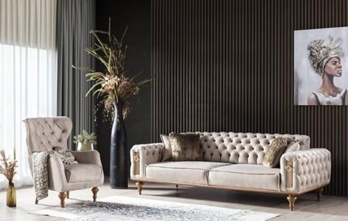Sofa Garnitur Beyoglu mit Sessel und Zweisitzer