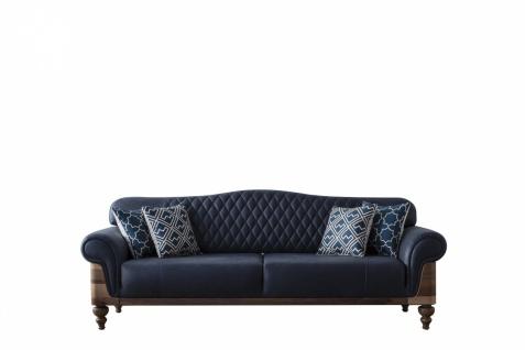 Wohnzimmer Couch Lucci Blau vergrößerbar