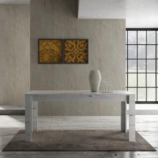 Design Esszimmertisch Weiß Eiche Grace 180cm