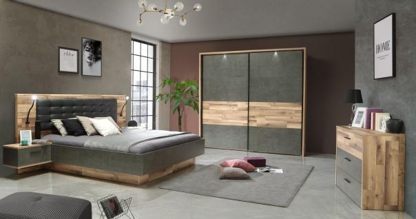 Schlafzimmer Set Eiche Optik Ricco 3-teilig