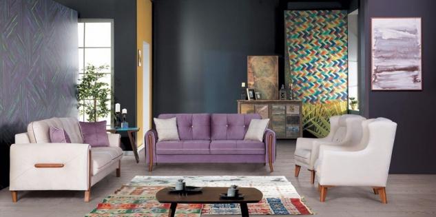Couchgarnitur mit Schlaffunktion Mury 4-teilig