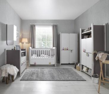 Babyzimmer Set 5-teilig Birdy mit Wickelkommode & LED