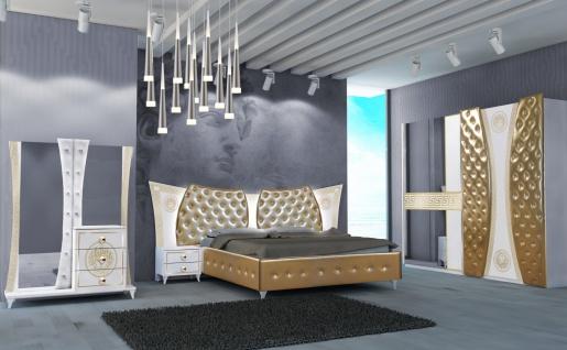 Schlafzimmer Delizia 4-teilig Weiß/Gold 180x200