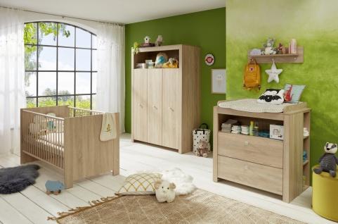 Babyzimmer Set Rory 4-teilig in Eiche Optik