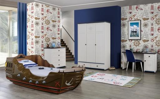 Kinderzimmer Set Marine Captain Pirates mit Schiff Bett