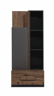 Bücherregal Torri mit Tür & Schublade in Eiche Optik