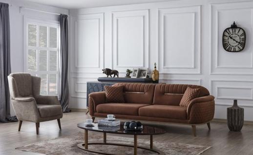 Sofa Set Beta mit Schlafsofa und Sessel - Vorschau 1