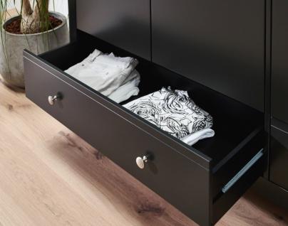 Kleiderschrank Schwarz Bastian 3-türig Romantik Stil