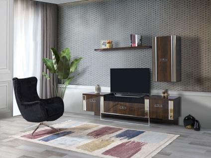 Wohnzimmer TV Unterschrank mit Wandelement Ruiz