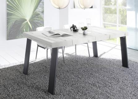 Design Esstisch in Weiß Eiche Jonson 189cm