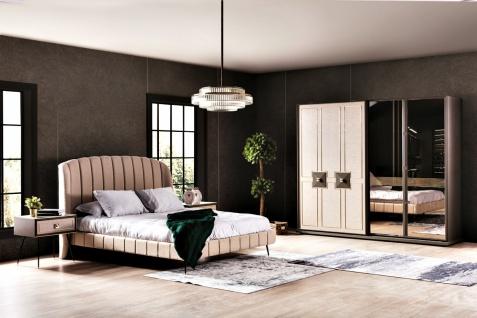 Schlafzimmerset mit Stauraumbett 5-teilig Residence