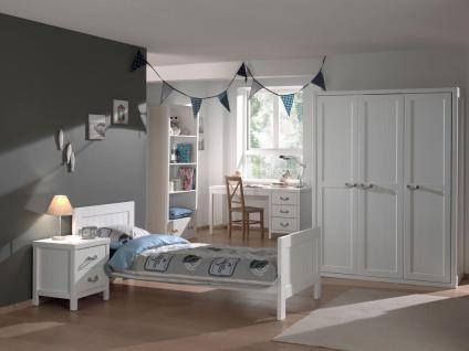 Jugendzimmer Set Iny 5-teilig in Weiß MDF