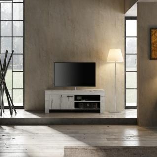 Design TV Schrank in Weiß Eiche Grace 1-türig