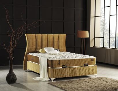 Bett Carmen mit Bettkasten und Matratze 90x190