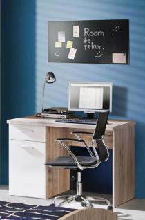 Schreibtisch in Sandeiche Weiß Jesper 1-türig