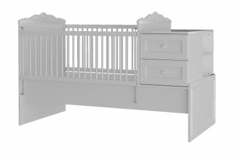 Almila Babybett Lory vergrößerbar 80x130 bis 80x180