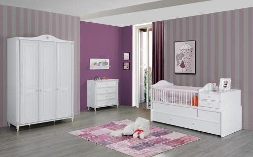 Babyzimmer Set in Weiß Goldi mitwachsend 4-teilig