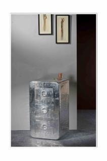 Kommode Homin mit 3 Schubladen in der Farbe Silber