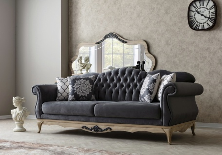 Design Sofa mit verstellbarer Lehne Balat Grau
