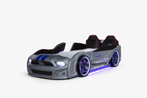 Autobett Must Rider 500 mit Türen in Grau