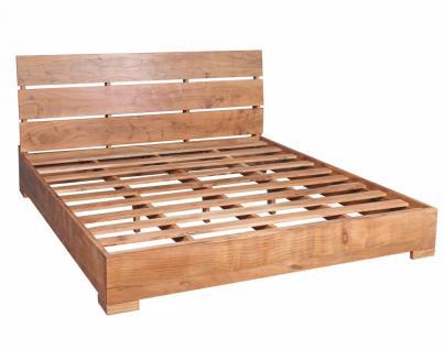 Akazie Massivholz Bettgestell 180 x 200 cm Doppelbett mit Lattenrost