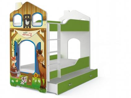 Kinder Etagenbett Fairy Farm mit Matratze 80x160