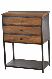 Telefontisch Krysse mit 3 Schubladen Teakholz recycelt