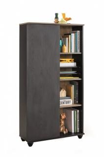 Cilek Compact Bücherregal in Schwarz 1-türig