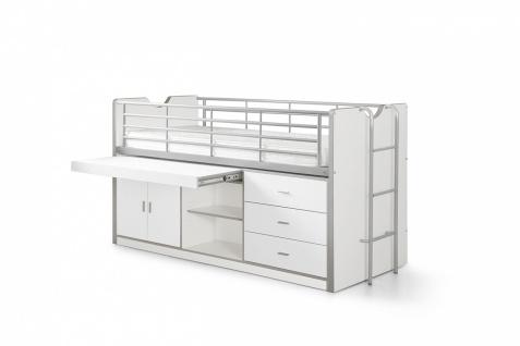 Bonny Stauraumbett 90x200 in Weiß